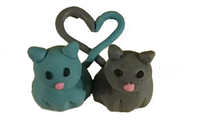 Fondant, Kitty Love, Cake Topper