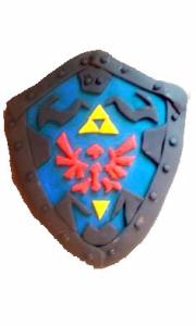 Zelda, cake, shield